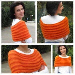 Orange shawl