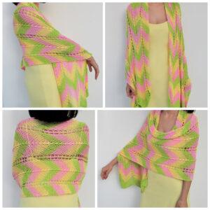 Yellow, green, pink shawl