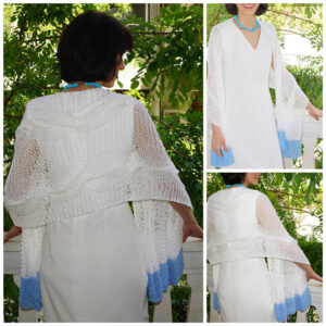 White blue shawl
